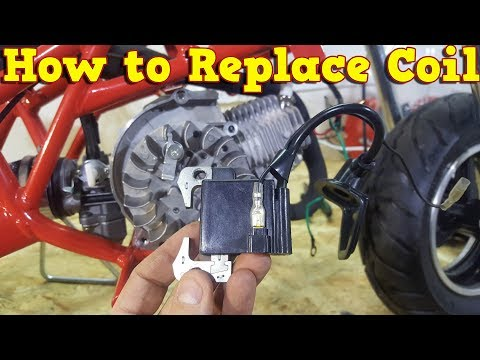 How to Replace Coil in 2 Stroke Pocket Bike Engine - Instructions PS50 Nitro Motors