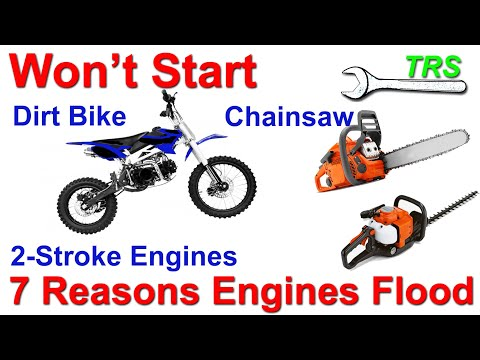 2-Stroke Engine - Causes of Excess Fuel Flooding into Engine - Chainsaw Won't Start